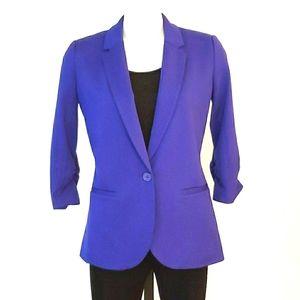 Ricki's Purple Jacket 3/4 Sleeves, Size Small